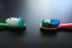 ToothbrushWithFluoridatedToothpaste
